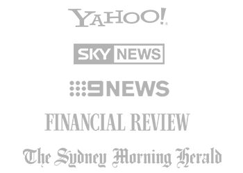 We have been featured by these amazing brands which include, financial review, yahoo, skynews, ninenews and the sydney morning herald
