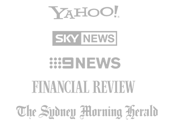 Featured by Financial Review, Yahoo, Sky News, 9 News and the Sydney Morning Herald