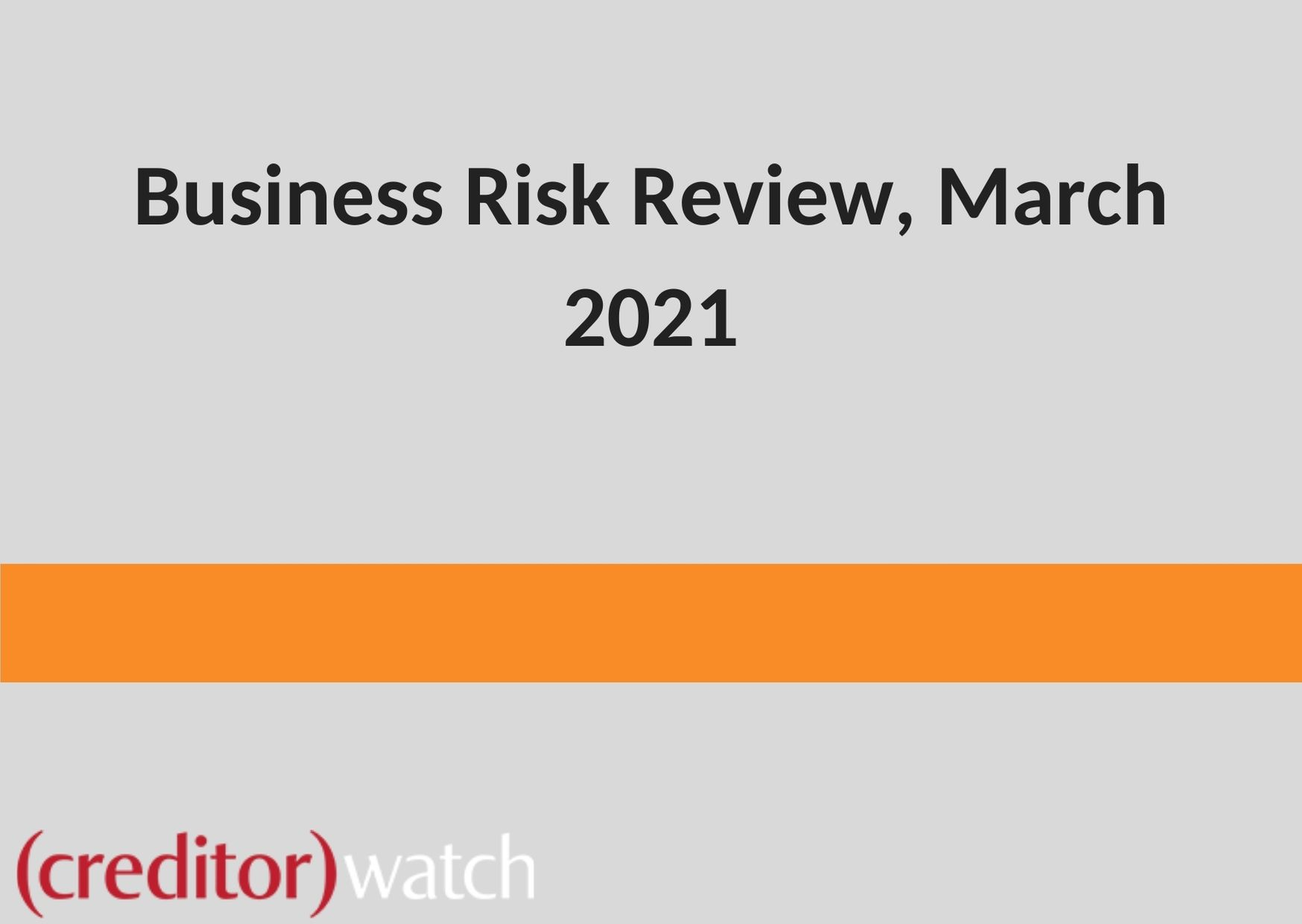 Business Risk Review March 2020
